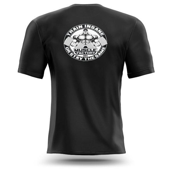 Muscle-factory-train-insane-t-shirt-back