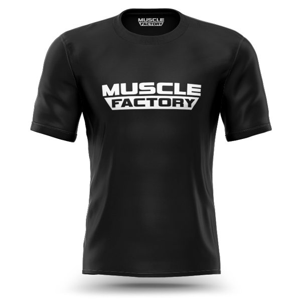 Muscle-factory-train-insane-t-shirt-front